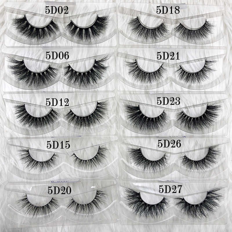 5D Mink Lashes Custom Eyelash Packaging 100% Handmade Faux