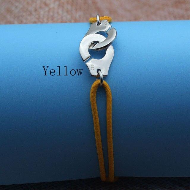 Браслет Menotte Франция Париж ювелирные изделия 925 стерлингового серебра браслет наручники для женщин с веревкой 925 Серебряный кулон Веревка Браслет - Окраска металла: Yellow