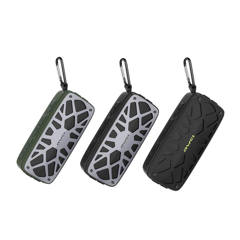 Awei Y330 Portable Outdoor Wireless Bluetooth Speaker TWS Card Insertion Dual Units Speaker Portable Audio And Video Equipment