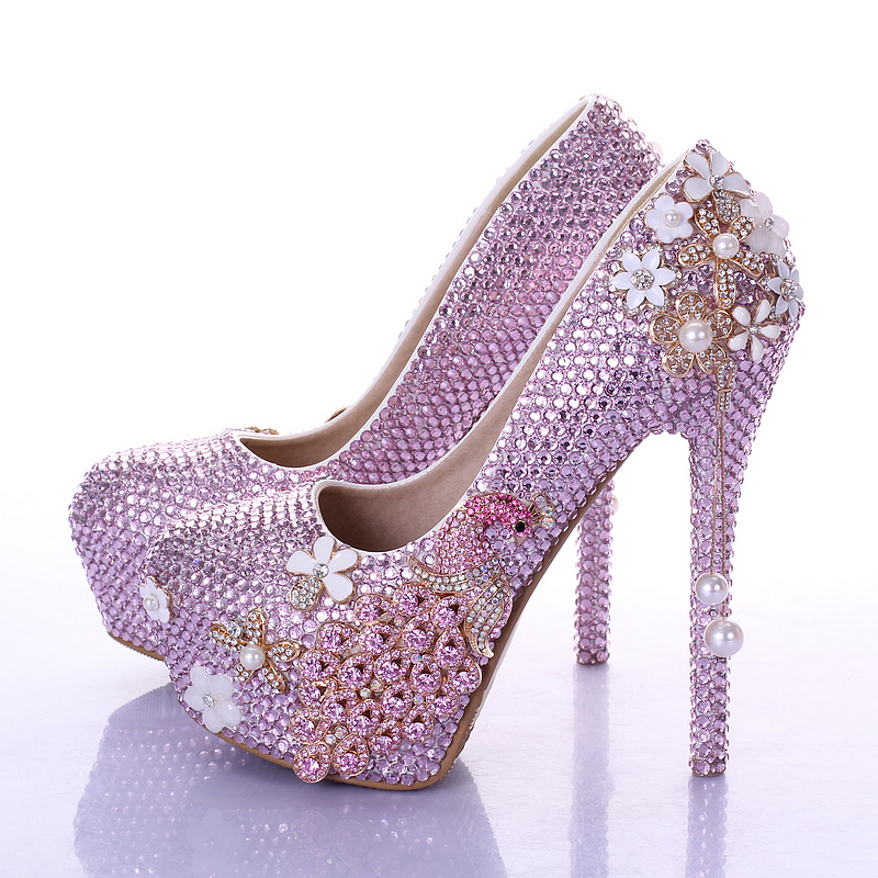 Pink Rhinestone Heels Promotion-Shop for Promotional Pink ...