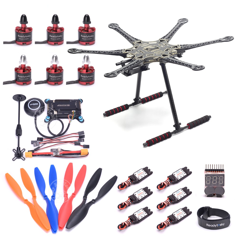 S550 PCB 550mm Multicopter Cadre Kit w/fiber de Carbone train d'atterrissage APM2.8 Vol contrôleur M8N GPS 2212 920KV moteur 30A ESC RC
