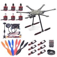 S550 PCB 550mm Multicopter Frame Kit w/ Carbon fiber landing gear APM2.8 Flight controller M8N GPS 2212 920KV Motor 30A ESC RC