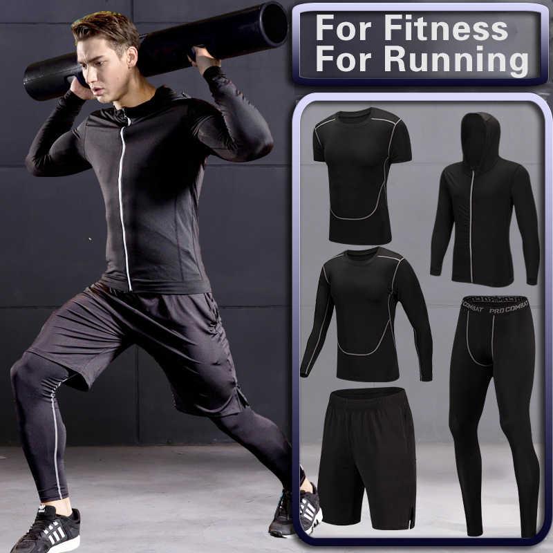 9c86dda846ad7 Detalle Comentarios Preguntas sobre Los hombres de gimnasio de  entrenamiento fitness ropa deportiva medias ropa delgada entrenamiento trajes  de chándal de ...