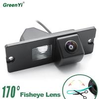 GreenY HD 170 degree 1280P fisheye MCCD lens starlight night vision car reversing rear view camera for Mitsubishi Pajero 4