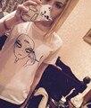 Kawaii caliente fimo aliens camiseta donna divertente punk 2016 camiseta tumblr femme et girocollo camiseta ocasional