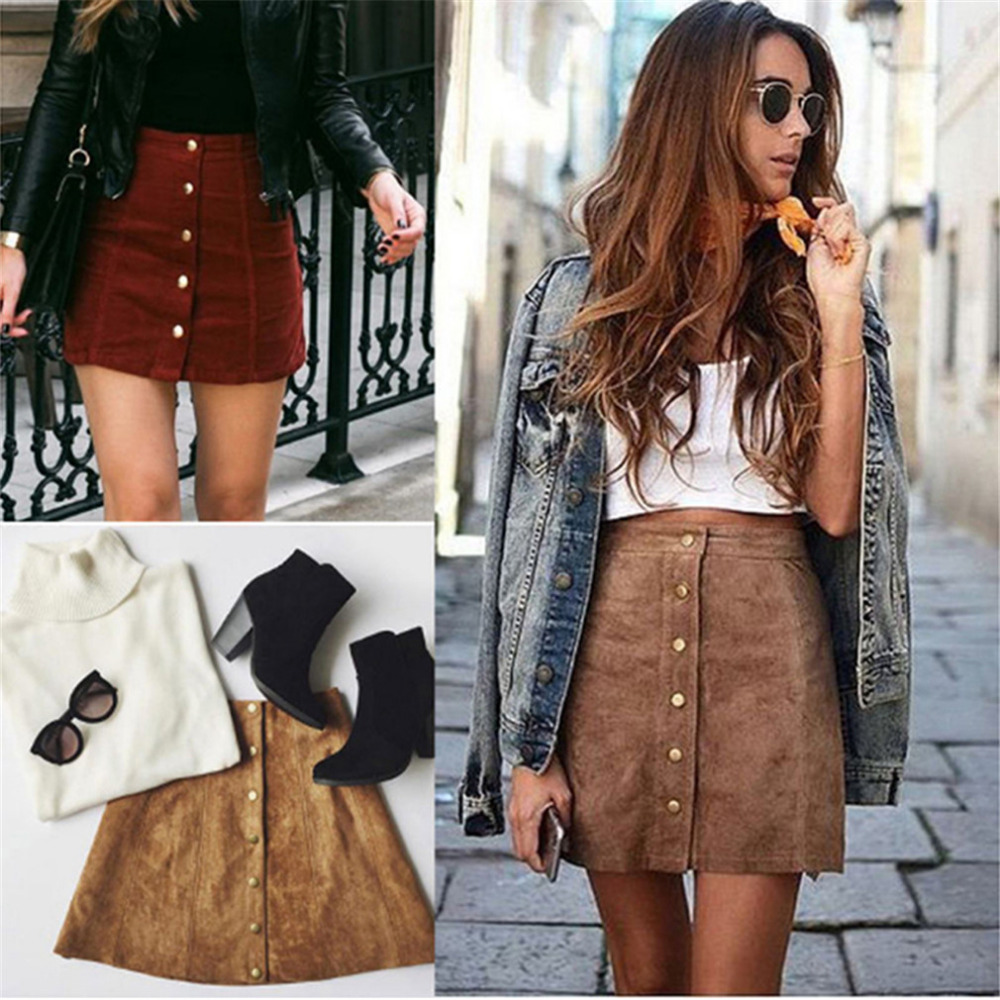 HTB172ACSFXXXXaBXpXXq6xXFXXXd - FREE SHIPPING  Womens High Waist Short Skirts Autumn Button Lace Up Suede Leather Skirt JKP256