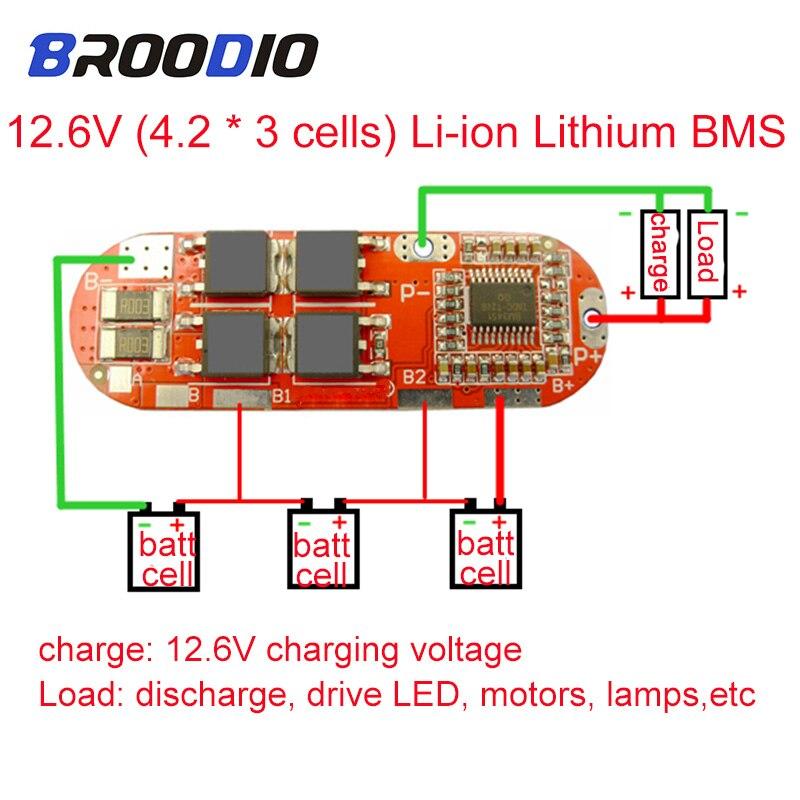BMS 1S 2S 10A 3S 4S 5S 25A BMS 18650 Lto Li-ion Batería De Lipo Litio Protección De Circuito Equilibrador De Equilibrio Junta Módulo