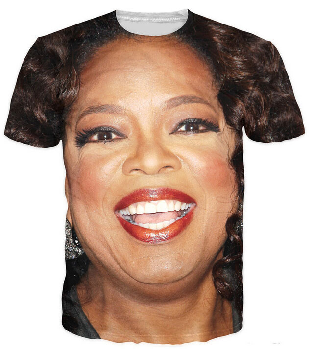 2a09f68f 2018 New Summer style Oprah print 3d t shirt women/men harajuku tshirt  vetement femme Unisex street wear plus size S-XXL