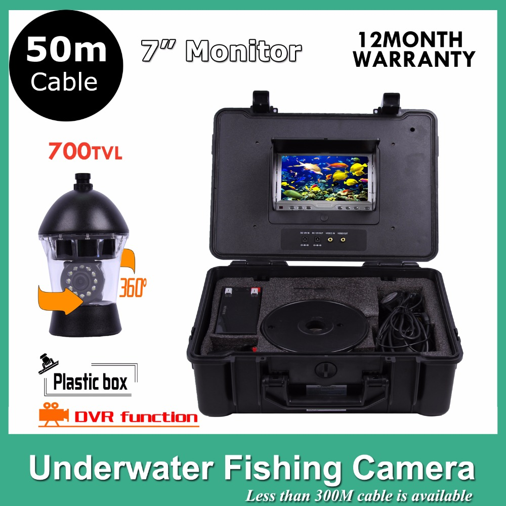 50M Cable Underwater Fish Finder SONY CCD 12Pcs White Leds Camera Nightvision fishing camera DVR Rotate 360 Degree 20m cable underwater fishing camera fish finder with 1 3 sony ccd effio e 12pcs white leds camera night vision rotate 360 degree