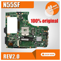 N55S N55SF N55SL For ASUS Motherboard N55SF REV2 0 Mainboard 60 N5FMB3600B03 PGA989 Fully Tested