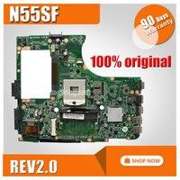 N55S N55SF N55SL For ASUS Motherboard N55SF REV2 0 Mainboard 60 N5FMB3600B03 PGA989 Fully Tested
