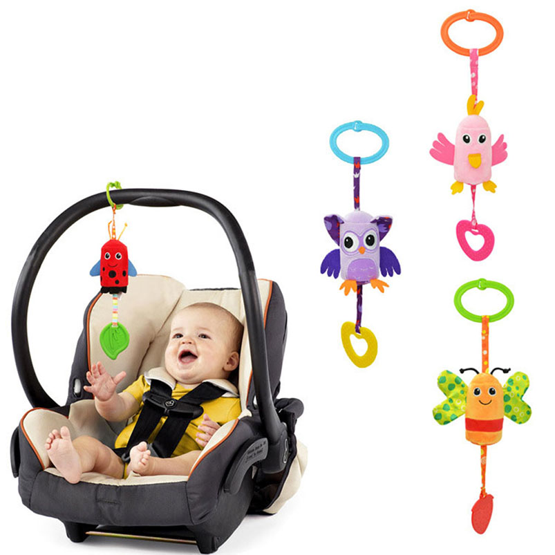 33 Cm Spielzeug Rassel Windspiel Kinder Kinderwagen Beißring Hängen Glocke Handbells Kinderbett Kinderwagen Tier Visuelle Entwickeln Handy Fall