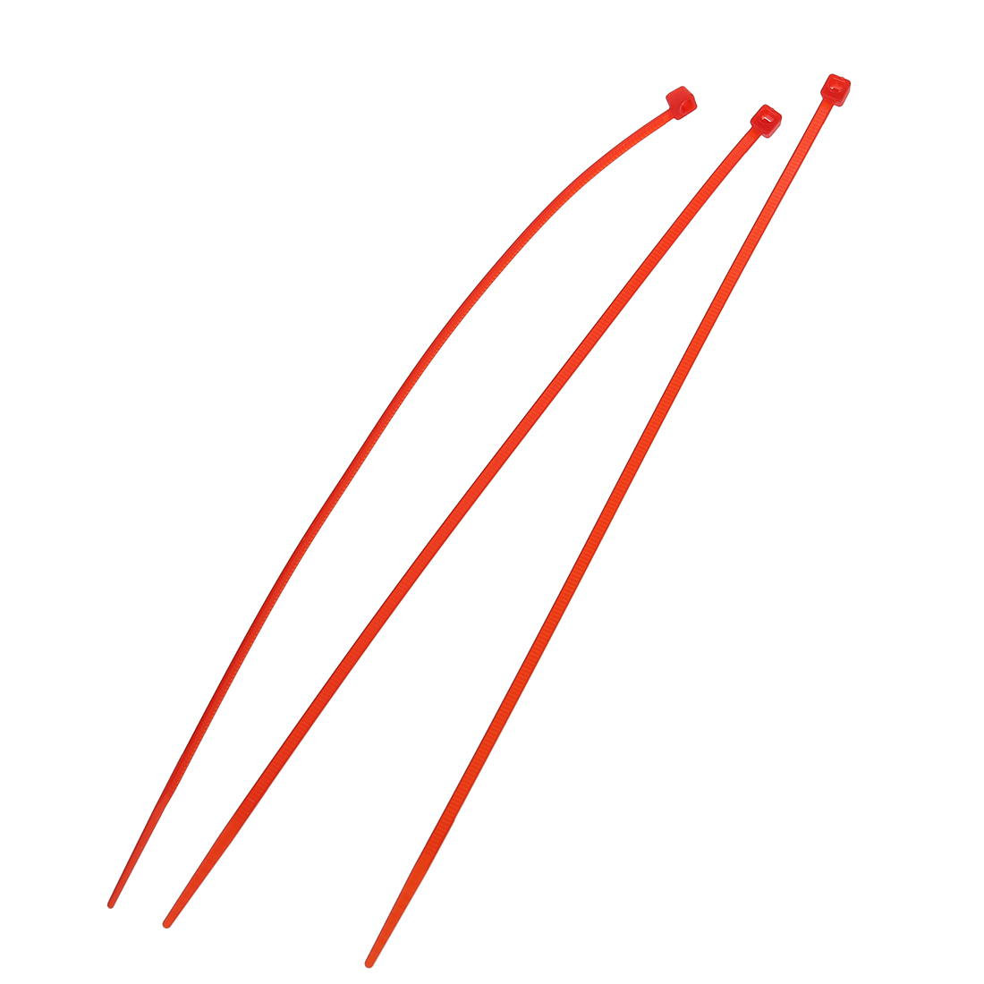 100 x 3 mm x 200 mm Red patch clamp stop cable wire tie -in Cable ...