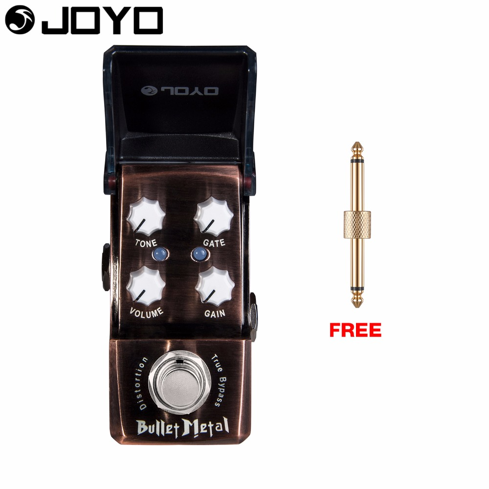 Joyo Bullet Metal Distortion Guitar Effect Pedal Volume Control Built in Noise Gate True Bypass JF-321 with Free Connector nux metal core distortion stomp boxes electric guitar bass dsp effect pedal 2 metal hardcore sound true bypass
