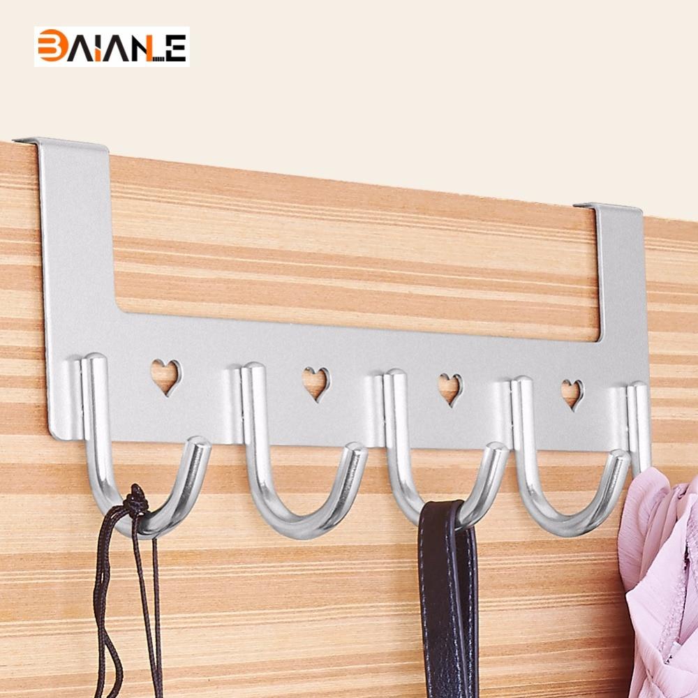 Modern Hooks Door For Aluminum Bathroom Accessories
