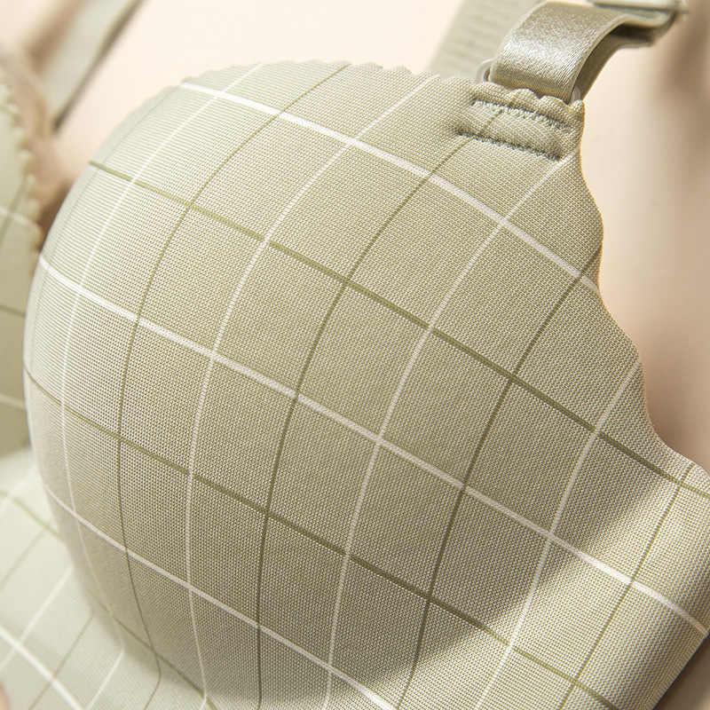 ผู้หญิง Deruilady Bra ไร้สายชิ้นตาข่าย Push Up Bra นุ่มสบายชุดชั้นในผู้หญิง Plus ขนาดชุดชั้นใน Bras 90C