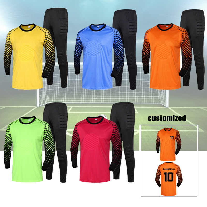 ab013d0e Adult Kids Custom Soccer Goalkeeper Jerseys Kit College Sports Football  Tracksuit DIY Goalkeeper Uniforms Clothes Suit
