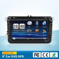2 Din 8 calowy Samochodowy Odtwarzacz DVD Dla samochodów Skoda Octavia Fabia szybki Yeti Superb VW Seat Stereo Nawigacja GPS Radio FM mapa