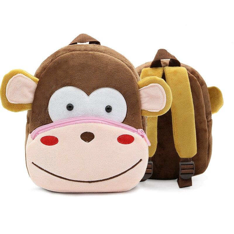 Купить с кэшбэком Cartoon Kids Plush Backpacks Baby Mini Schoolbag Kindergarten Backpack Cute Children Infant School Bags Gift for Girls Boys