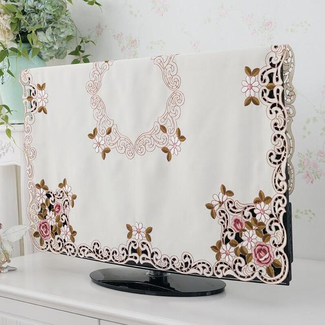 Elegant Rose Embroidered Tablecloth Set – Table Runner / TV Cabinet Cover / Chair Cushion Cover