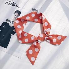Корейский стиль шарфы разнообразие профессиональное оформление стюардесса шифон цвет многофункциональный Шелковый шарфы Ol женская сумка Украшение