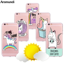 Arsmundi font b 2018 b font New Arcobaleno Unicorn Phone Cases for font b iPhone b