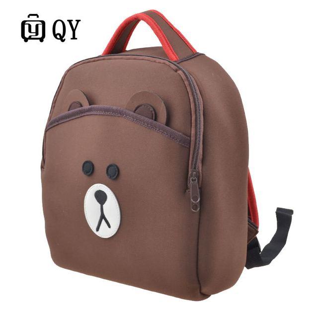 New Arrivals Cartoon mochila Kid School Backpack For Child Bag For Kindergarten Girl Baby Student Boy Cute bear Backpack1021