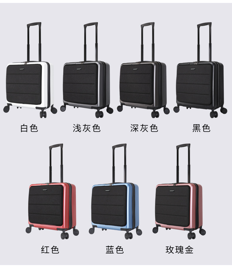 Casual Travel Trolley Luggage Aluminum Frame Alloy Business Rolling Luggage Airplane Suitcase Spinner Wheels 20inch (18)