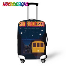 NOISYDESIGNS Travel Protective Cover Landscape Printed Suitcase Elastic Dust Cover Trolley Luggage Case Bag Travel Accessories