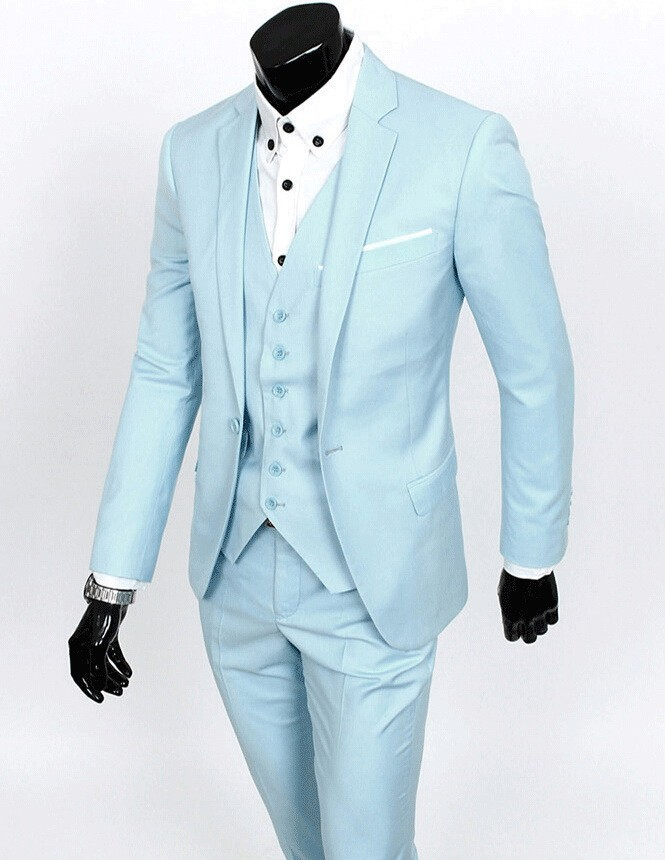 Side Vent Groom Tuxedo Groomsmen 4 Colors Wedding Dinner Evening Suits Best Man Bridegroom Jacket Pants Tie Vest B17 In From Men S Clothing