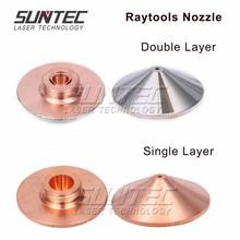 купить Suntec Laser Nozzle Single Layer /Double Layers Dia.32mm Caliber 0.8 - 5.0mm for bodor Raytools laser Cutting Cutter Machine дешево