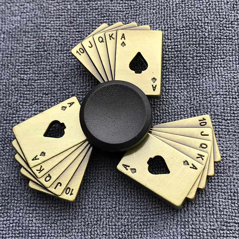 Bronze Gear Hand Spinner Finger Fidget Spinner Thor Hammer Eiffel Tower Alloy Metal Hand Tri Spiner Ring Hobbies For Adults