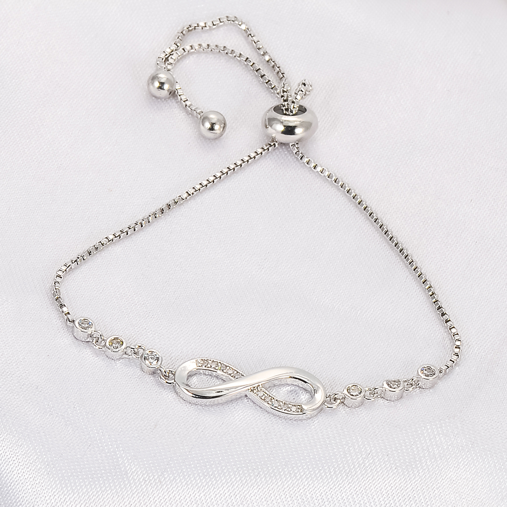 jewellry romantic bracelet women wholesale silver p key plated glass for