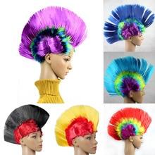 Клоун моделирование панк подставки под парик платье представление Смешные пушистые петухи гребень волос шляпы Хэллоуин шляпа танцевальный бар Свадебная вечеринка