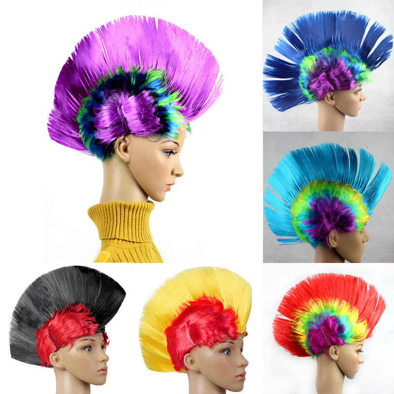 Clown Modeling Punk Wig Props   Dress Performance Funny Fluffy  Cocks Comb Hair Hats Halloween Hat  Dance Bar Wedding Party
