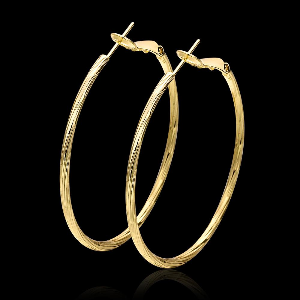 real gold plated hoop earrings for women new fashion. Black Bedroom Furniture Sets. Home Design Ideas