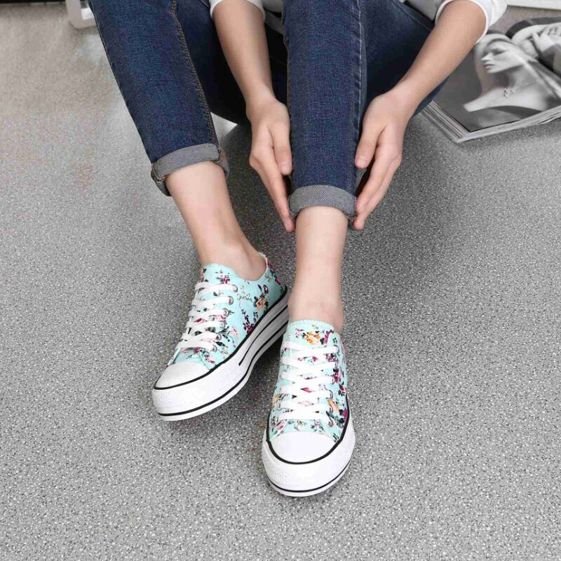 2018 Dames Schoenen Dames Zomer Schoenen Lace Up Dames Sneakers - Damesschoenen - Foto 2