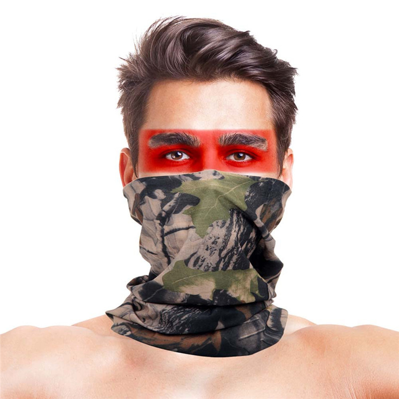 3D Maple Leaf Hunting Scarves Polyester Windproof Anti Dust Half Face Mask Bandana Tactical Military Gear Hunting Accessories