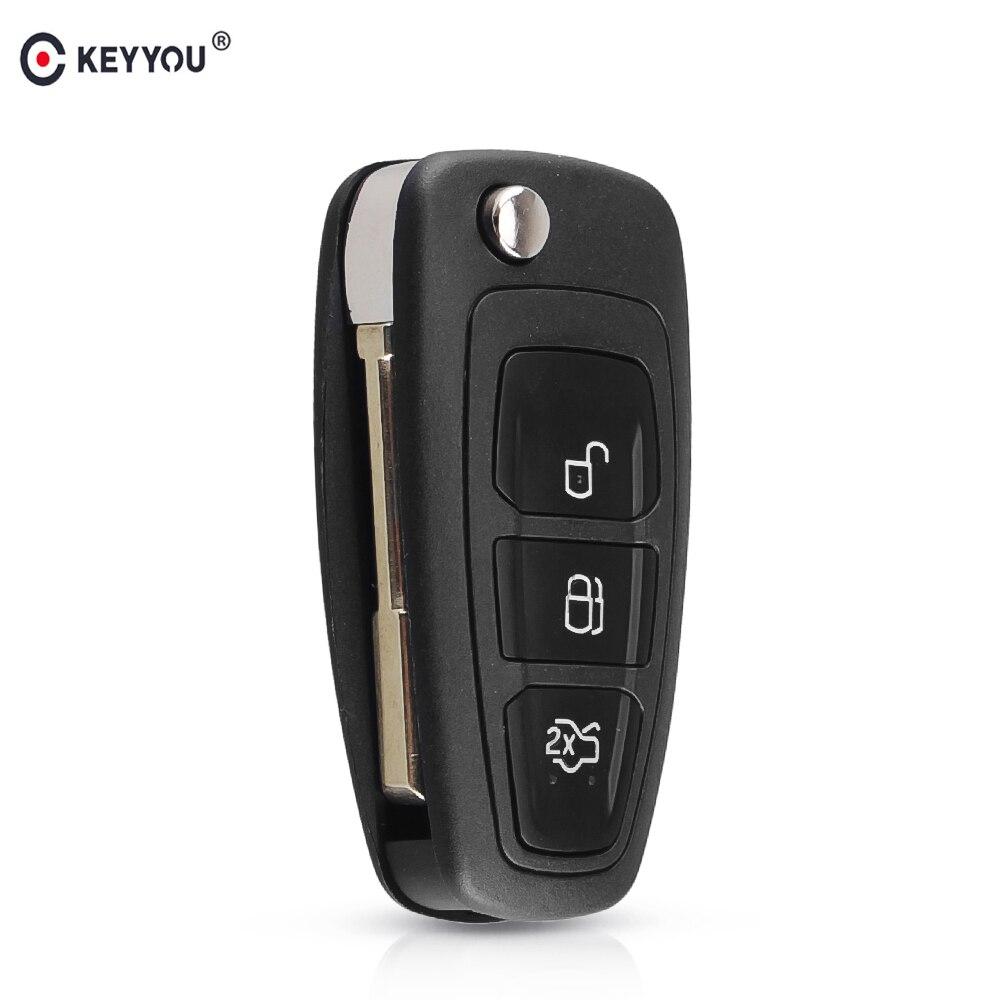 Chiave telecomando per Ford Focus Mk1 1999-2005 Mondeo 2001-2007 Fiesta Transit 2000-2006 Connect FO21 Blade Folding Remote Key 3 Button