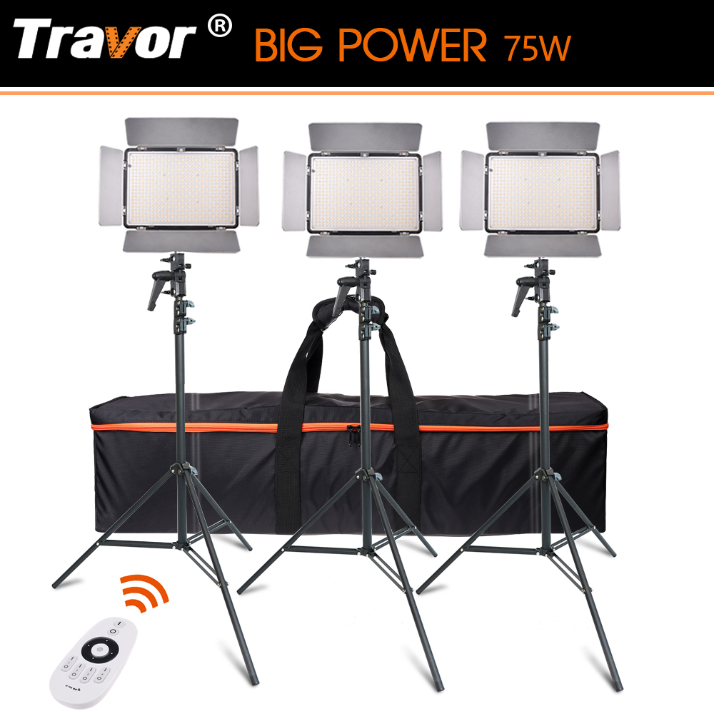 Travor TL-600A2.4Gkit BiColor LED Video Light with 2.4G remote control +6pcs NP-F550 battery+4pcs Charger for photography travor flexible led video light fl 3060 size 30 60cm cri95 5500k with 2 4g remote control for video shooting