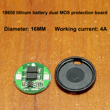 18650 lithium battery protection board 18650 over charge and discharge protection board universal dual MOS protection board 4A battery anti over discharge controller with time delay over protection board low voltage off load and alarm