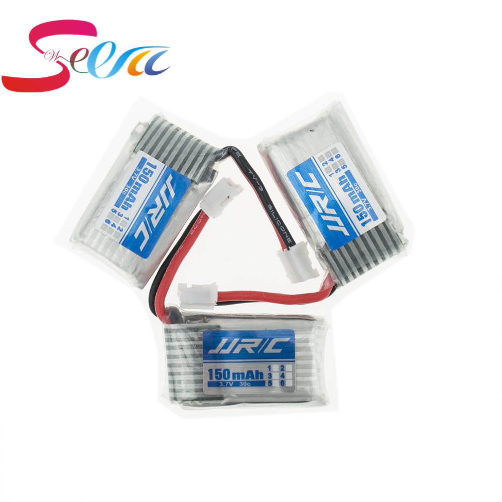 3pcs 150mAh 3.7V li-po Battery for Eachine E010  JJRC H36 Furibee F36helicopter RC Quadcopter Spare Parts hot new 5pcs eachine e010 3 7v 150mah 45c upgrade battery usb charger set rc quadcopter jjrc h36 spare parts