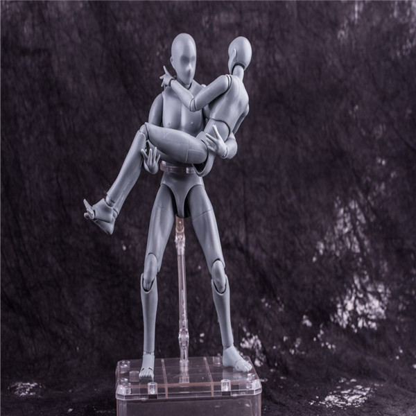 27CM 1set Japanese anime figure silver figma man/woman body movable with weapon action figure collectible model toys new 1set 15cm anime figure shf 2th generation figma movable with weapon action figure collectible model toys brinquedos