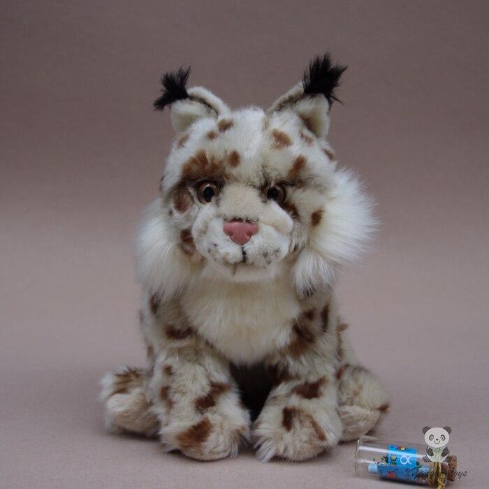 Muñeco de peluche Regalos para niños Juguetes de simulación Animales Salvajes Juguetes Muñecas Lince Eurasiático