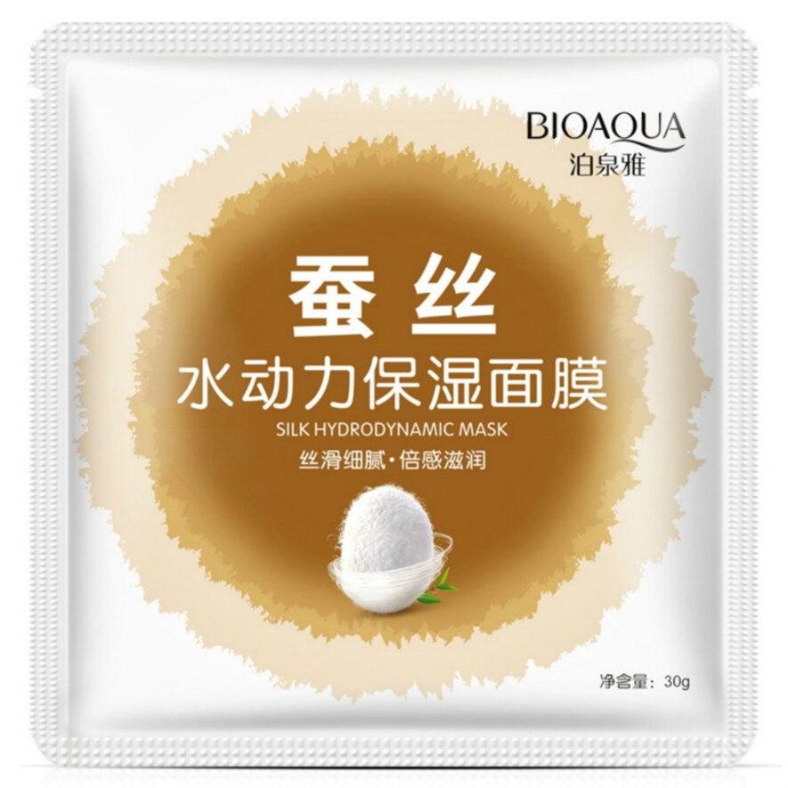 1pcs Facial Mask Plant Cosmetic SkinCare Beauty Moisturizing Oil Control Blackhead Whitenin Silk Hydrodynamic Moisturizing Mask