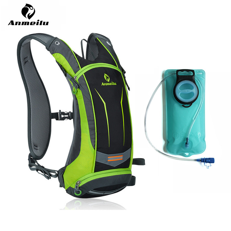 ANMEILU 2L Sport Water Bag 8L Waterproof Nylon Bike Cycling Backpack Outdoor Climbing Travel Hiking Backpack Camelback Rucksack anmeilu 25l climbing bag sports rucksack waterproof cycling camping backpack rain cover sport travel bags 2l water bag camelback