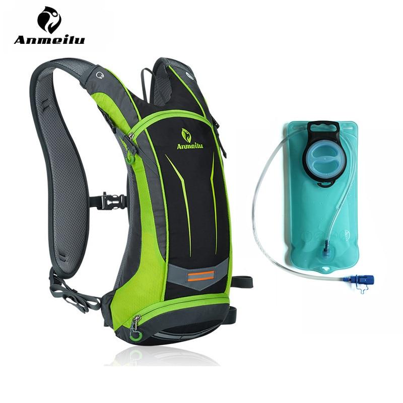Anmeilu 2l الرياضة حقيبة المياه 8l ماء النايلون حقيبة الظهر mochila في الدراجات الترطيب تسلق التخييم المشي