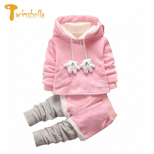 TWINSBELLA Girl Clothing Sets Winter Boy Long Sleeve Cartoon Hoodies+Pant Autumn 2PCS Baby Girls Christmas Costume For Boys