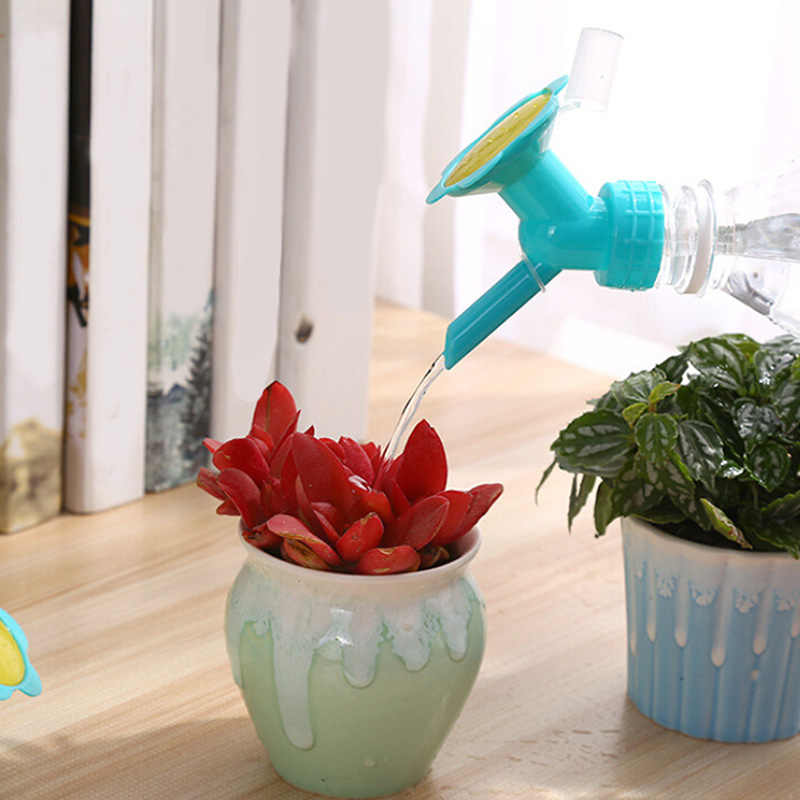 ממטרה זרבובית כפולה צדדי בקבוק צמח פרח השקיה זרבובית השקיה צמחים נייד פלסטיק בקבוק כובע ממיר