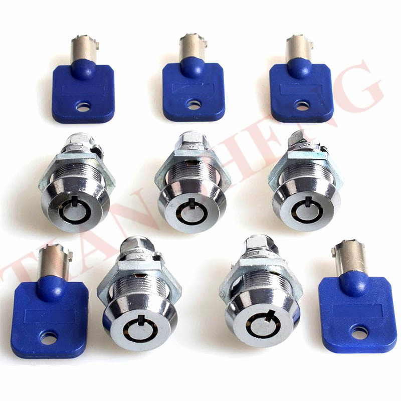 5PCS/Lot Keyed alike 17mm Tubular Cam lock door Cabinet lock for slot game machine arcade Pinball games machines accessories image
